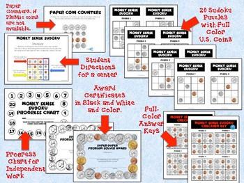 Hands-On 4x4 Money Sense Sudoku Puzzles - Set 1
