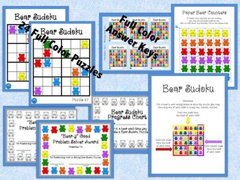 Hands-On 6x6 Bear Sudoku Puzzles - Set 2