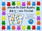 Hands-On 6x6 Bear Sudoku Puzzles - Set 2