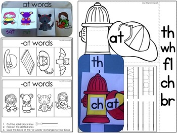 Differentiated Interactive Word Families: Hands-On -AT Activities