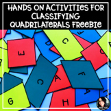 FREE Hands-On Activities for Classifying Quadrilaterals TEST PREP FREEBIE