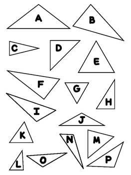 Activities for Types of Triangles (Scalene, Isosceles, Right)