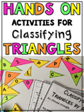 Activities for Types of Triangles Classifying Triangles Activity