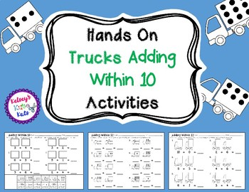 Hands On Adding Within 10 Trucks Activities
