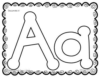 Hands-On Alphabet Journal