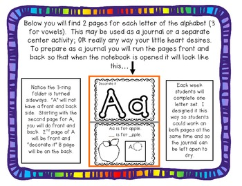 Hands-On Alphabet Journal