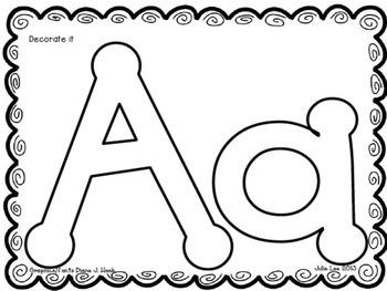 Hands-On Alphabet Journal FREEBIE