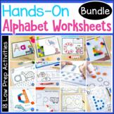 Hands-On Alphabet Worksheets BUNDLE