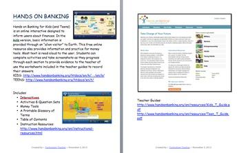 Hands On Banking: Grades 4-8+