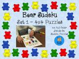 Hands-On 4x4 Bear Sudoku Puzzles - Set 1