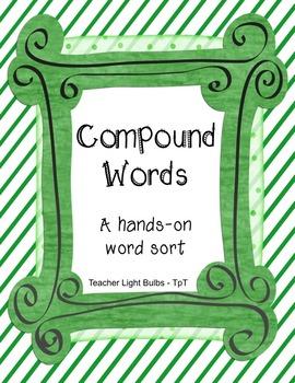 Compound Words Hands on Word Sort Literacy Center