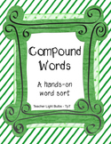 Compound Words Hands on Word Sort Literacy Center