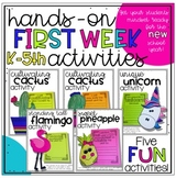 First Week of School Activities for K-5th