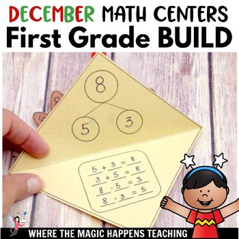 December Math Stations For First Grade