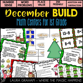 December Math Stations For First Grade
