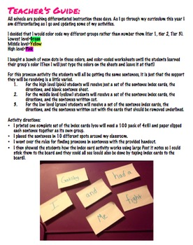 Hands On Differentiated Pronoun Practice (I vs Me + more!)