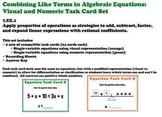 Algebraic Equations Algebra Task Cards Beginner Common Core 7.EE.1
