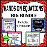 Hands On Equations - Big Value Bundle - 3 Sets of Task Cards - Plus Poster Set!