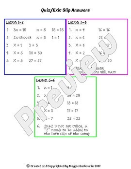 Hands-On Equations: Level I