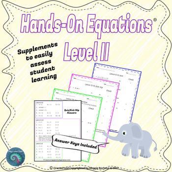 Hands-On Equations: Level II