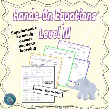 Hands-On Equations: Level III