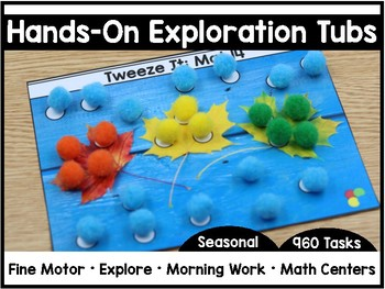Hands-On Exploration Tubs *SEASONAL* (Fine Motor, Morning Work, Morning Tubs)