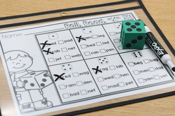 "Hands-On Fluency Bundle Part 3: Roll, Read, ""X"" It"