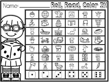 Hands-On Fluency Bundle Part 4: Roll, Read, Color It