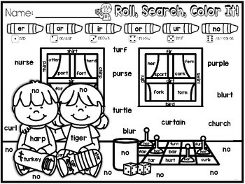 Hands-On Fluency Bundle Part 5: Roll, Search, Color It