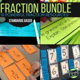 Hands On Fraction Bundle:  10 Hands On Fraction Resources for Grades 3-5