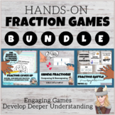 Hands On Fraction Games BUNDLE: Cover Up, Hiding Fractions