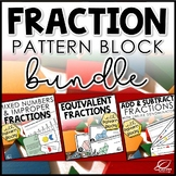 Hands On Fractions with Pattern Blocks BUNDLE