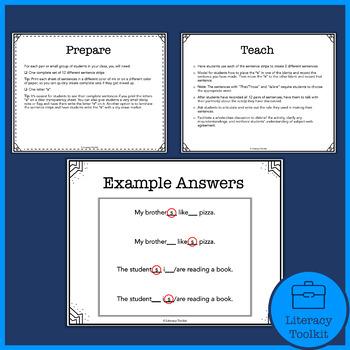 Hands-On Grammar Subject-Verb Agreement