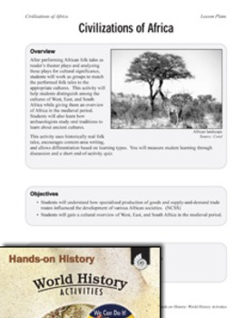Hands-On History--Civilizations of Africa (eLesson)