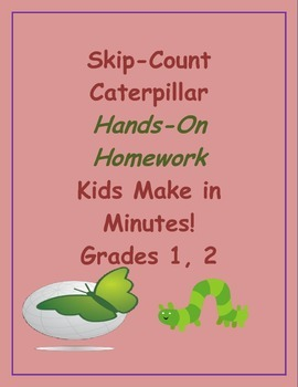 Skip-Count Caterpillar Hands-On Homework, Kids Make in Min