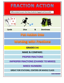 Hands-On Lessons: Make Compare Proper, Improper and Mixed Numbers and Fractions