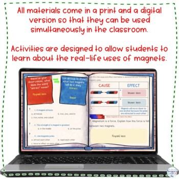 Magnetism Unit of Hands on Activities Nonfiction Articles Flipped Video and Test