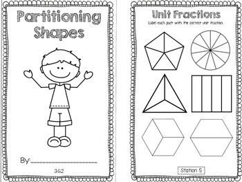 Hands-On Math Booklet 3.G.2 {Partitioning Geometric Shapes}