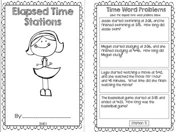 Hands-On Math Booklet 3.MD.1 {Elapsed Time}