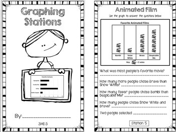 Hands-On Math Booklet 3.MD.3 {Graphing}