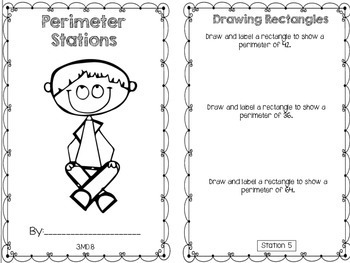 Hands-On Math Booklet 3.MD.8 {Perimeter}