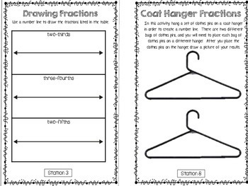 Hands-On Math Booklet 3.NF.2 {Fractions on a Number Line}