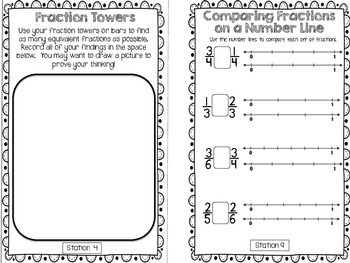Hands-On Math Booklet 3.NF.3 {Comparing Fractions & Equivalent Fractions}