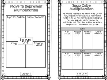 Hands-On Math Booklet 3.OA.1 {Multiplication}