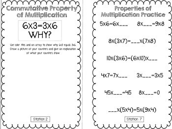Hands-On Math Booklet 3.OA.5 {Properties of Multiplication}