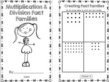 Hands-On Math Booklet 3.OA.6 {Relationship Between Multiplication & Division}