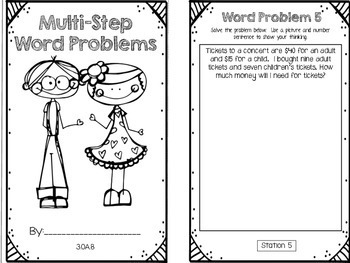Hands-On Math Booklet 3.OA.8 {two-step word problems}
