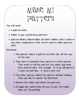 Hands-On Math: Describing and Comparing Numbers and Patterns
