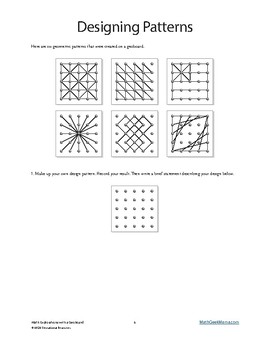 Hands On Math Exploration with Geoboards