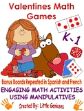 Valentine's Math Activities for Kindergarten and First Graders